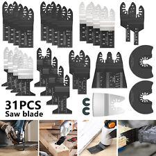 31pc For Fein Bosch Ridgid Dewalt Makita Ryobi Multi Tool Oscillating Saw Blades