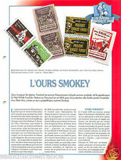 l'Ours Bear Smokey Please Folks Vignettes USA Sapeurs Pompiers FICHE FIREFIGHTER