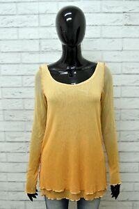 Maglia-ROBERTO-CAVALLI-Donna-Taglia-Size-S-Maglietta-Blusa-Shirt-Woman-Cotone