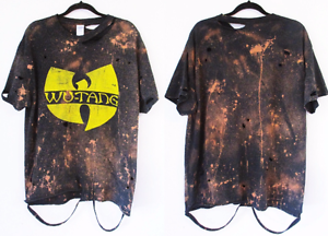 6da4851ea806 Image is loading Wu-tang-clan-bleached-distressed-t-shirt-S-