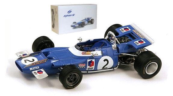 Spark 18s066 Matra Ms80 Jackie Stewart 1969 Campeón del Mundo Escala 1 18
