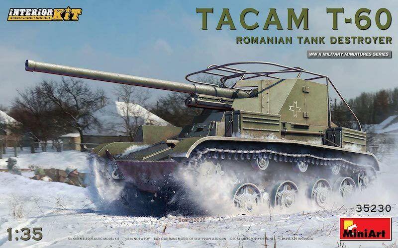 Mini Art 35230 Kit Modello 1/35 Tacam T-60 Rumeno Serbatoio Distruttore