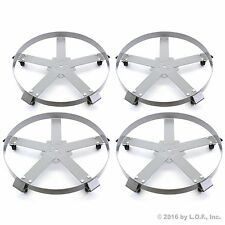 4 Drum Dolly 55 Gal 5 Wheel Swivel Casters Heavy Steel Frame Easy Roll 1250 Lbs
