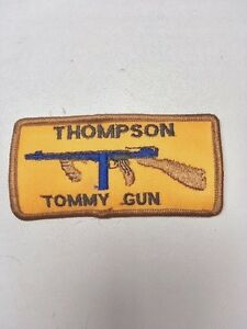 Vintage THOMPSON TOMMY GUN Patch Hunting