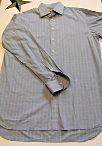Thomas-Pink-Mens-Long-Sleeve-Button-Down-Blue-Dress-Shirt-Size-16-1-2-36-1-2