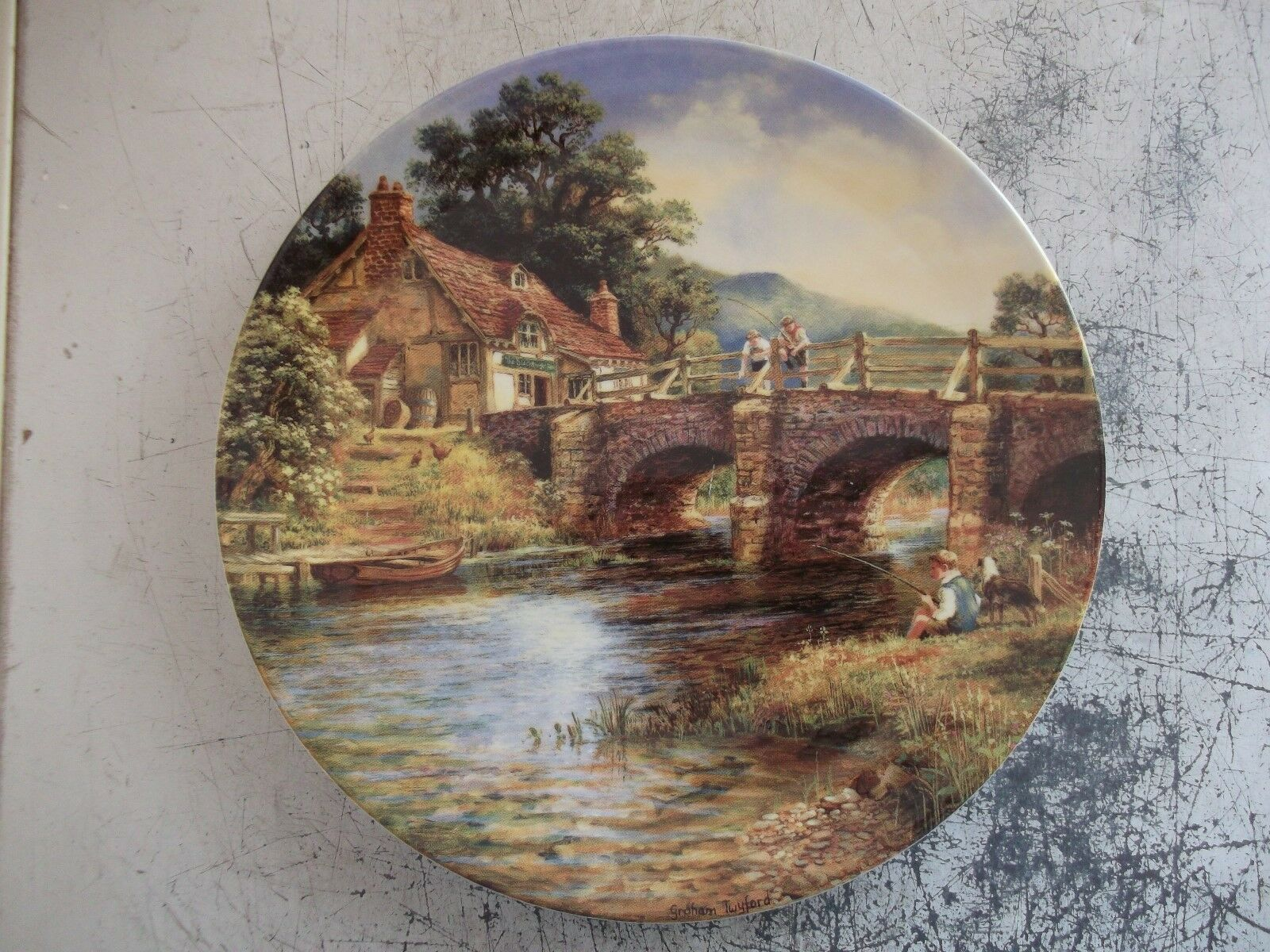 Rare danbury mint down by the river collector plate.