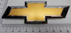 Original-Gold-Chrome-Chevrolet-23236301-Silverado-2016-2017-Grille-Front-emblem