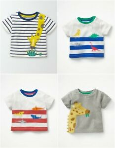 Boys' Clothing (0-24 Months) Mini Boden boy's baby cotton applique top t-shirt  new shirt tee applique logo