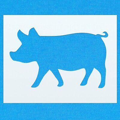 Pig Farm Animal Mylar Pintura Pared stencil Art Decoración del hogar Hazlo tú mismo Arte Manualidades
