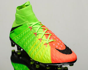 Nike Hypervenom Phantom 3 DF AG-PRO III men soccer cleats electric 852550-308