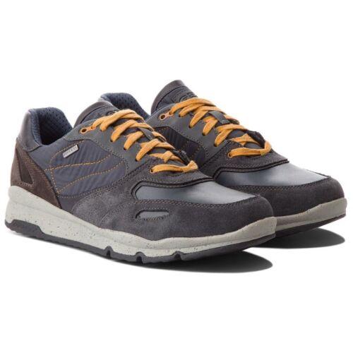 Anti Grigo Piel De Geox Lluvia Azul Tela Hombre Zapatos Zapatillas w0XPk8nO