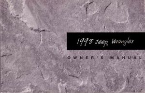 1998 jeep wrangler owners manual user guide ebay rh ebay com 1998 jeep tj owners manual pdf 1998 TJ Off-Road