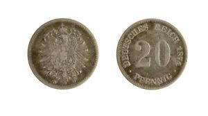 S1164_46) Germany - Empire 20 Pfennig 1874 D D