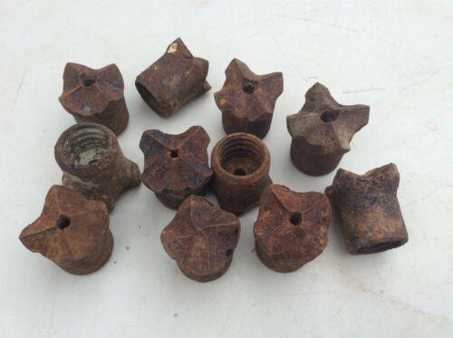 Steampunk Art   Lot Of 11 Vintage Mining Blasting Rock Drill Bits