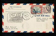 US Postal History Airmail FAM 9 Miami FL Lima FL Cristobal Canal Zone 1929 #570
