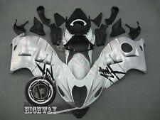 Bodywork Fairings Kit For Suzuki GSX1300R Hayabusa White Silver 1997-2007 2000 F