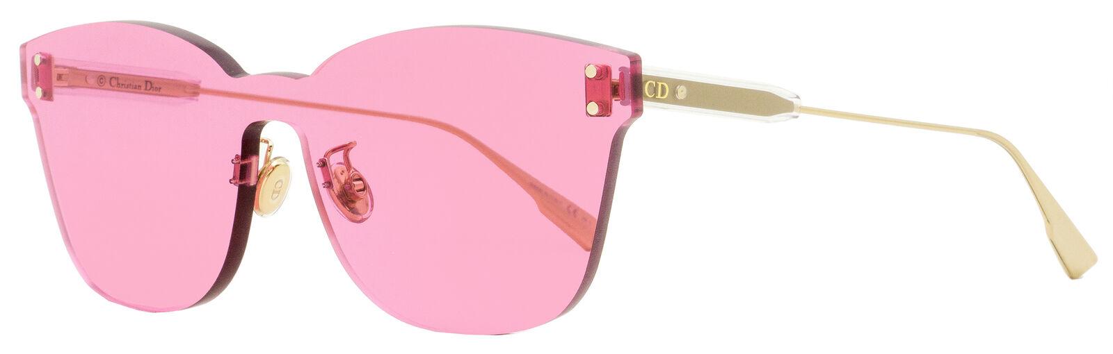Dior Shield Sunglasses ColorQuake 2 MU1U1 Gold 99mm