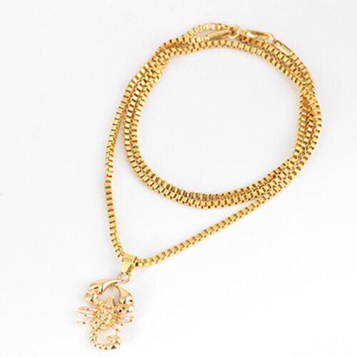 Nueva cadena de oro Colgante Collar de cadena ESCORPIO Signo Encanto Joyas De Mujer N7