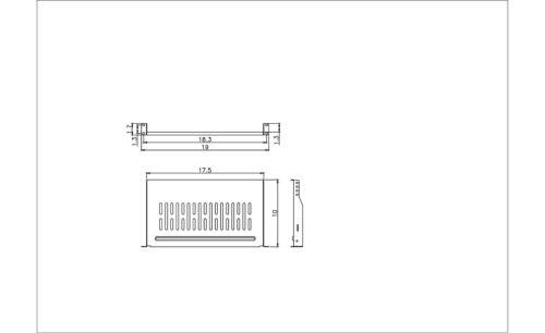 """3 Pack Cantilever Server Shelf Vented Shelves Rack Mount 19/"""" 1U 10/"""" 250mm Deep"""