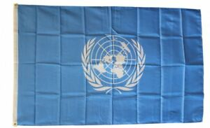 UNITED NATIONS FLAG 3 x 5 FOOT FLAG - NEW HIGHER QUALITY ULTRA KNIT 3x5' FLAG