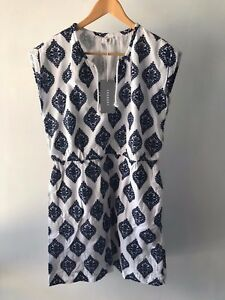 COUNTRY ROAD - SZ 16/XL trenery embroidered summer dress navy CR LOVE