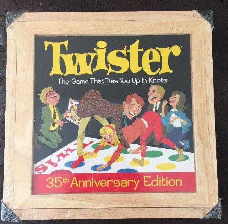 Sealed Rare 35th Anniversary Edition Deluxe Twister Game Wooden Box Retro New