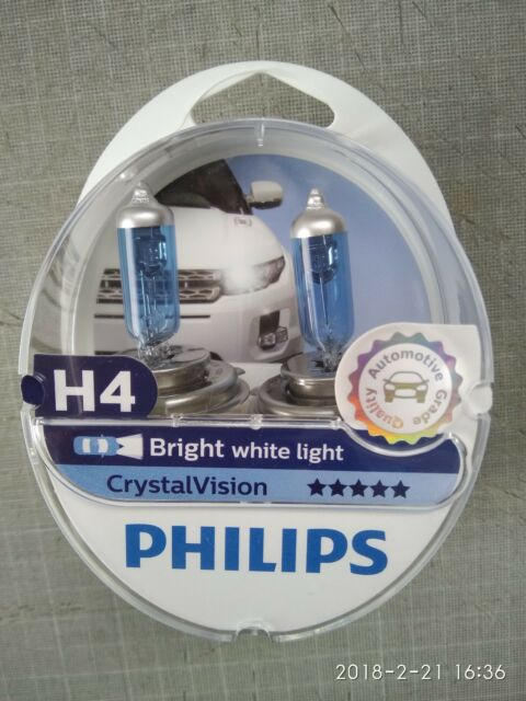 Philips Crystal Vision H4 OEM 12342CVSM  Made in Poland