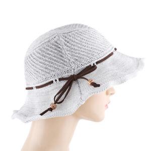 e981bef65 Summer Women Sweet Hand Knitting Straw Foldable Beach Sun Hemp Rope ...