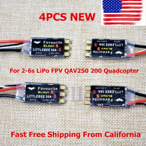 4x30A Brushless Littlebee Blheli-S ESC For 2-6s LiPo FPV QAV250 200 Quadcopter