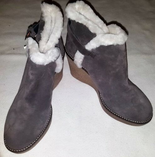 eur Suede £ Shearling 39 Størrelse uk Rrp Wedge Boots Grå 6 150 Boden qfCz5w