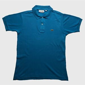 Homme-Polo-Lacoste-Small-2-bleu-a-manches-courtes-Classic-Fit-coton