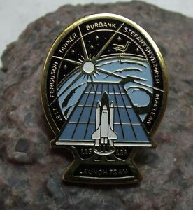 Space Shuttle STS 115 Atlantis NASA ISS Mission 12A Launch Team Pin Badge