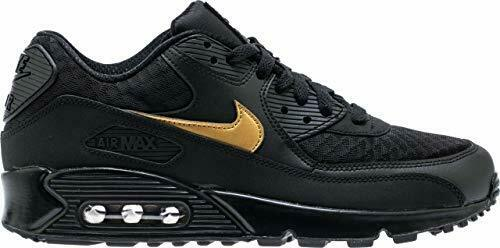 Nike Air Max 90 Essential Black Metallic Gold Av7894 001 Mens Size 10