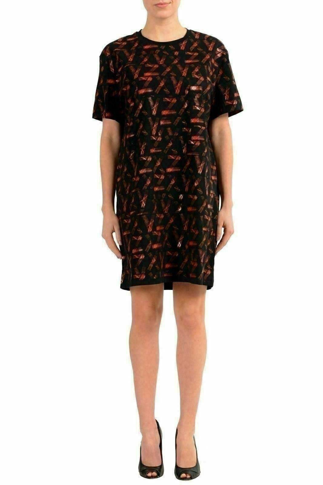 Versace Versus Mehrfarbig Kurzärmlig Damen Hemd Kleid Us XS es 38