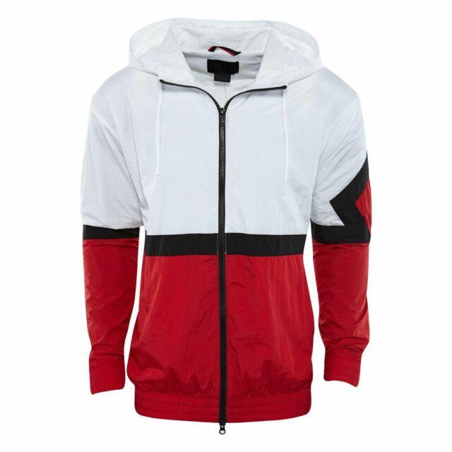 Red Nylon Track Jacket Mens Aq2683
