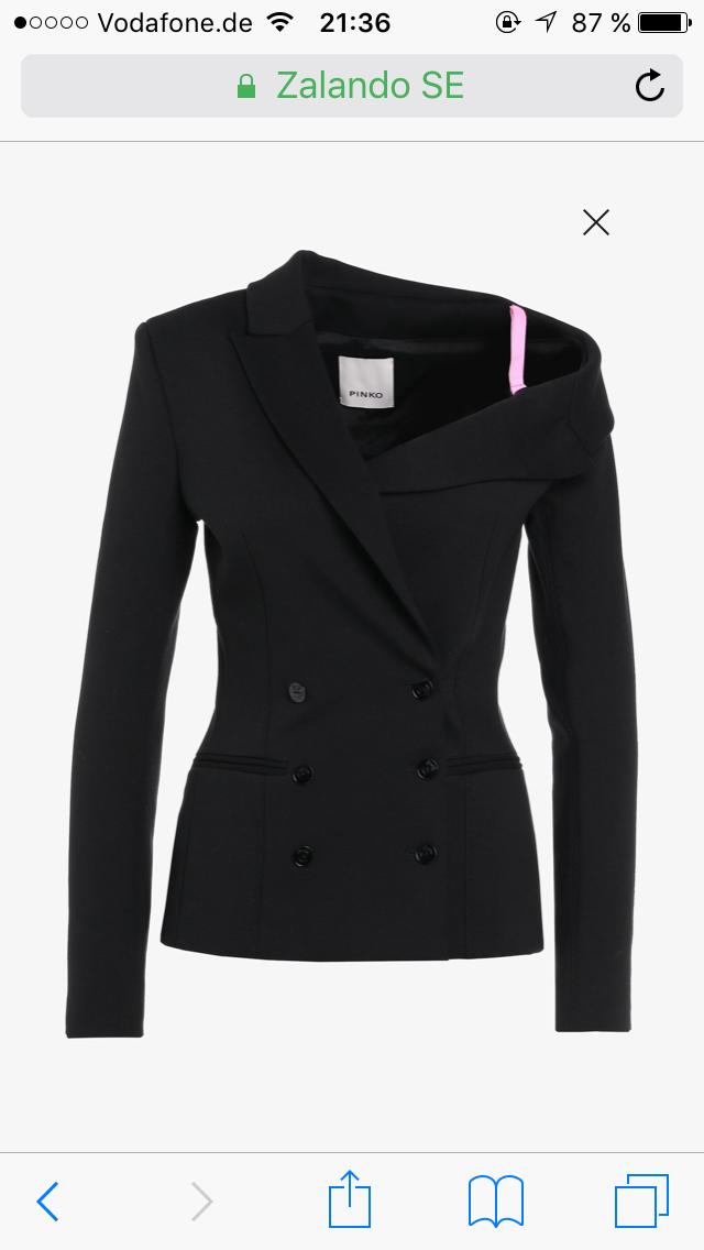 RosaO GOVERNARE - Blazer schwarz mit Rosa Gr. 38 ital. 44 NEU