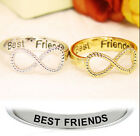 New Fashion Best Friends Engraved Friendship Infinity Ring Women Jewelry Gift EY