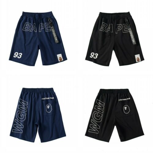 Men/'s A Bathing Ape Bape Sports Casual Loose Shorts Black Camo Short Pants Cool^