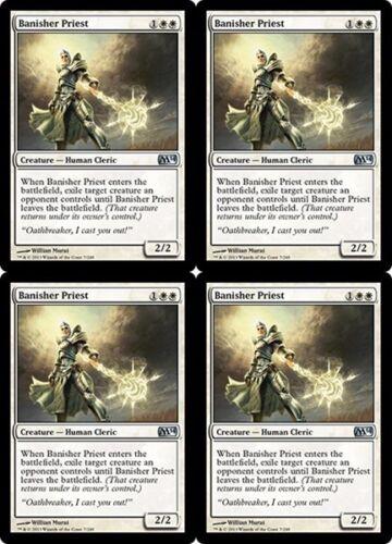 4x BANISHER PRIEST M14 Magic 2014 MTG White Creature—Human Cleric Unc