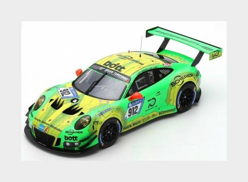 Porsche 911 991-2 Gt3 R Winner Nurburgring 2018 R.Lietz SPARK 1 18 18SG027