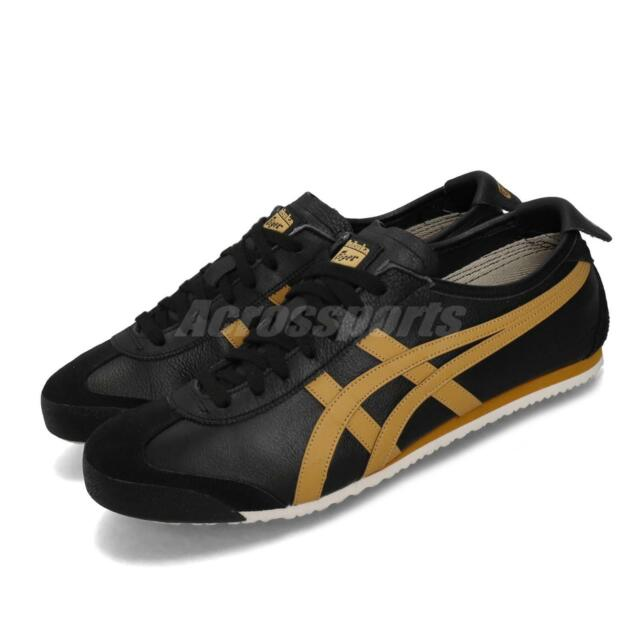 on sale c82ee 6ad69 Asics Onitsuka Tiger Mexico 66 Black Gold Mens Womens Casual Shoes  1183A201-001