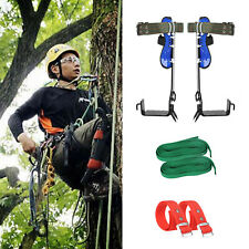 Tree Climbing Spike Set 2 Gears Safety Belt Adjustable Lanyard Rope Rescue Usa