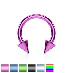 1pc-Titanium-Spiked-Circular-Barbell-Horseshoe-Septum-Eyebrow-Nipple-Ring