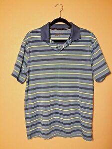 Men-039-s-Tour-Performance-Dri-Fit-Nike-Golf-Shirt-Blue-Green-Stripe-Size-Medium