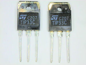 TIP33C-034-Original-034-ST-Transistor-2-pcs