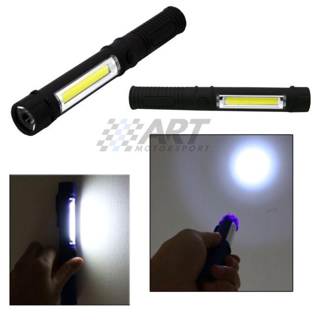 Linterna cob led con base imantada doble iluminación blanco 16,6cm x 2,3cm