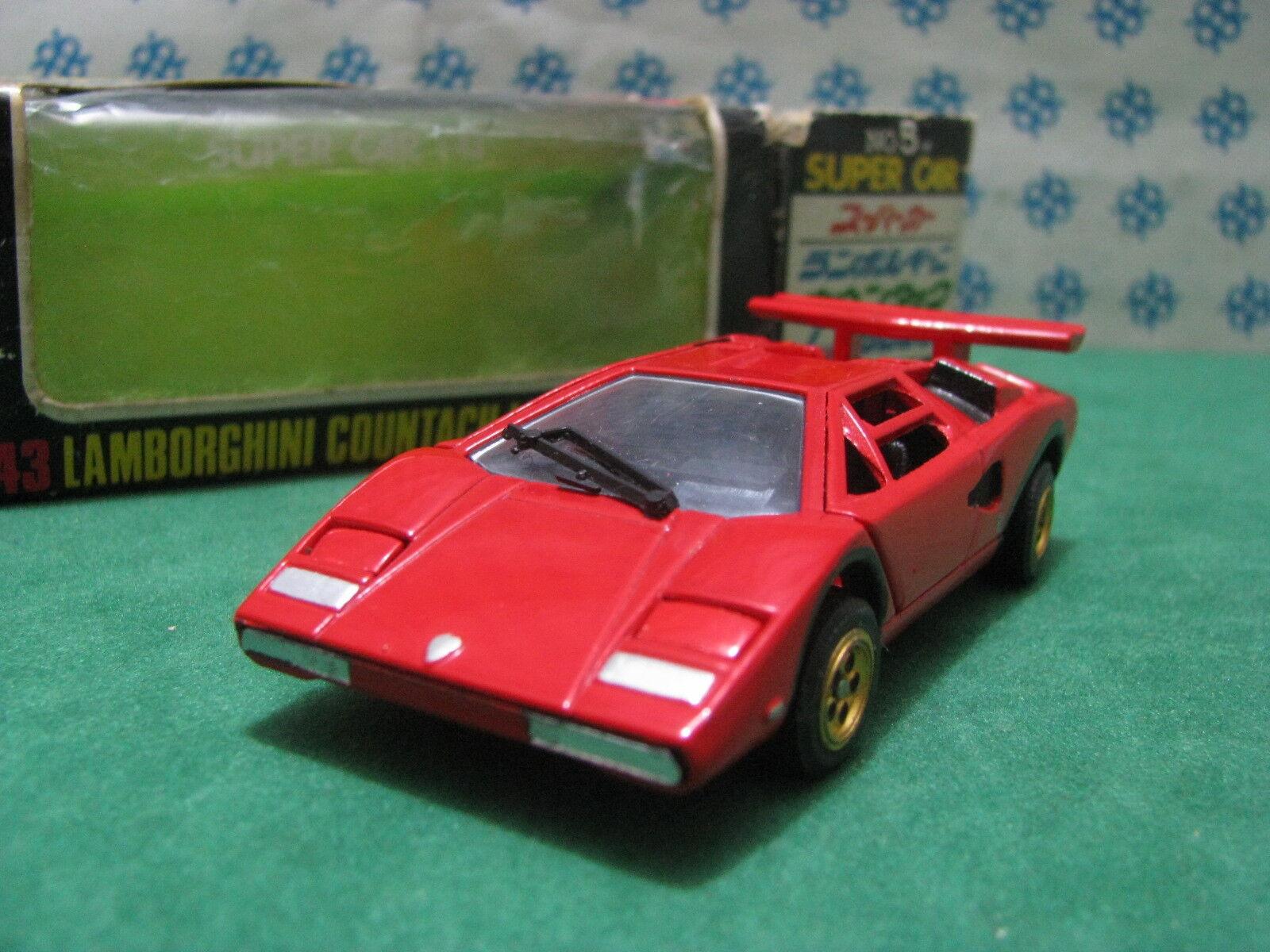 Rara vintage-Lamborghini Countach LP 500 - 1 43 Taito-ku nº 05 Supercar