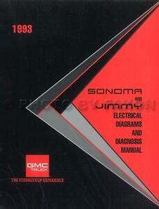 1993 GMC Sonoma Jimmy Typhoon Wiring Diagram Manual ...