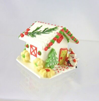 DOLLHOUSE MINIATURE CHRISTMAS GINGERBREAD HOUSE CANDY SWEET FOOD BAKERY HOLIDAY