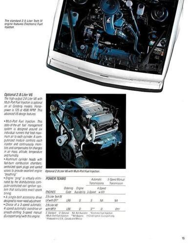 Camaro Caprice Malibu 1988 Chevrolet Celebrity Literature-20 pages